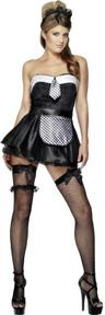 View Item Adult Ladies 12-14 Sexy Fever Waitress Fancy Dress French Maid Costume (Medium)