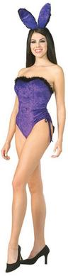 View Item Adult Ladies 10-12 Sexy Pleasingly Purple Bunny Rabbit Fancy Dress Costume