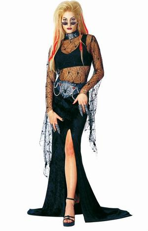 Special Offer Size 6 - 8 Night Widow Halloween Witch Fancy Dress Vampire Costume