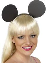 View Item Black Mouse Ears Fancy Dress Costume Accessory