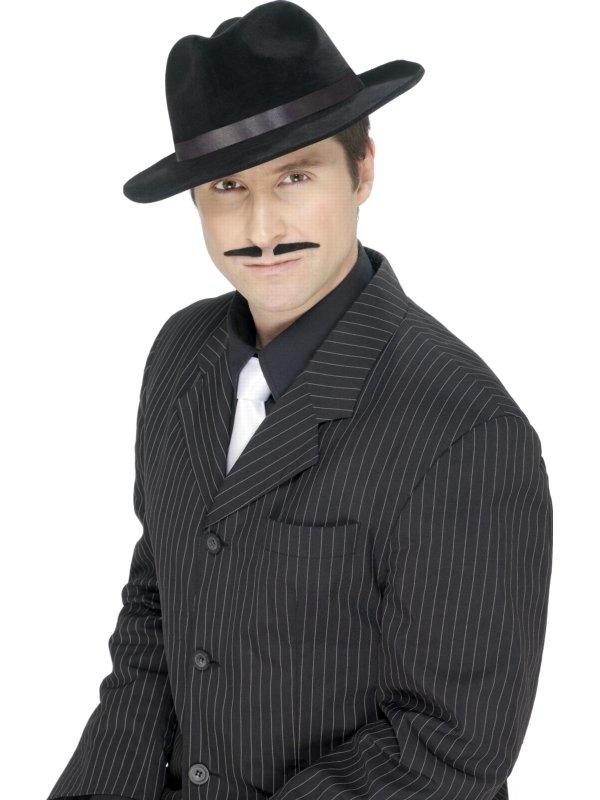 ADULT GANGSTER MOUSTACHE DRESSING UP COSTUME ACCESSORY FANCY DRESS
