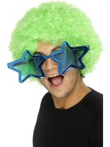 View Item 70s Jumbo Star Shaped Glasses Fancy Dress Accessory
