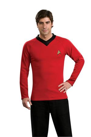 Adult Small Licensed Star Trek Classic Scotty Shirt Fancy Dress Costume Mens