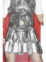 View Item Adult Roman Silver Rubber Skirt Fancy Dress Accessory