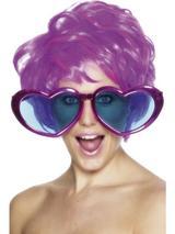 View Item 70s Jumbo Heart Shaped Glasses Fancy Dress Accessory