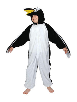 Child Kidz Penguin Fancy Dress Animal Costume Age 7-8 Years (Large)