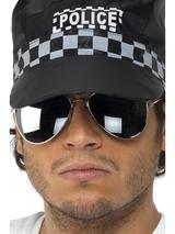 View Item Silver Framed Aviator Glasses Fancy Dress Costume