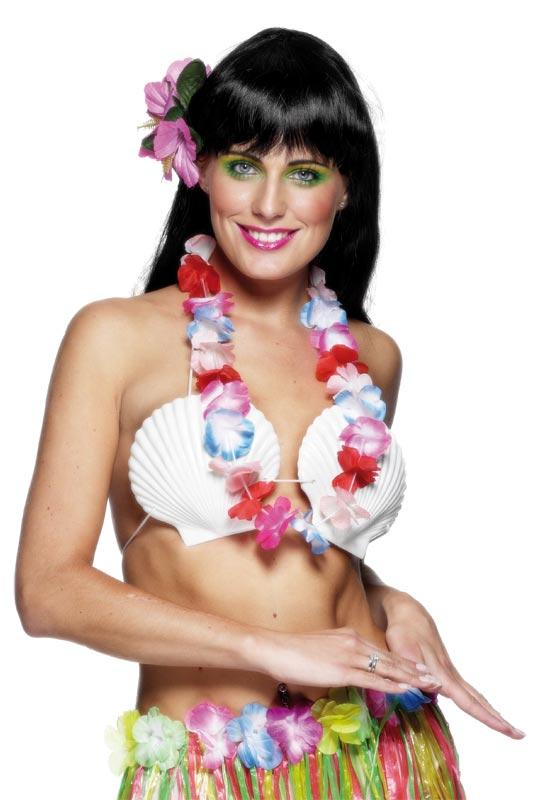HAWAIIAN MULTICOLOURED GARLAND DRESSING UP ACCESSORY FANCY DRESS