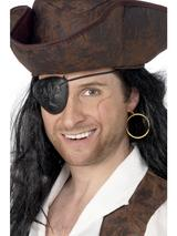 View Item Pirate Eyepatch and Earring Fancy Dress Accessory
