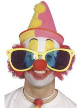 View Item Giant Clown Sunglasses Fancy Dress Costume Accessory