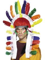 View Item Adult Indian Chief Headdress Fancy Dress Accessory