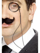 View Item Black Monocle on Cord Fancy Dress Costume Accessory