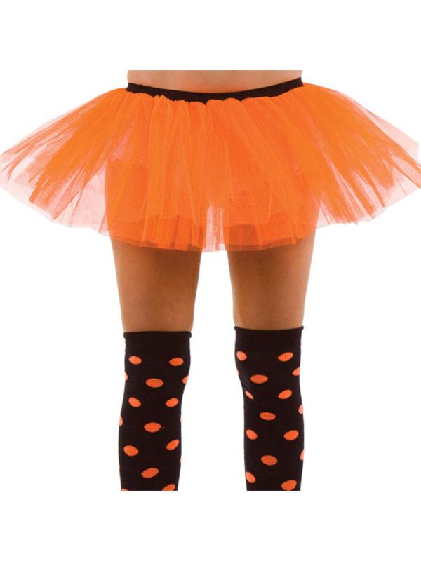 Adult's Orange And Black 3 Layer Tutu