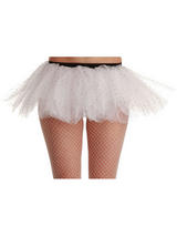 Adult's 3 Layer White Sequin Tutu