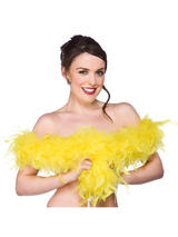 Super Soft Yellow Feather Boa ( 1.7m Long, 60 gsm )
