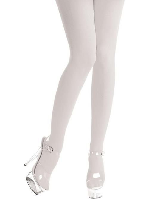 White Opaque Leggings