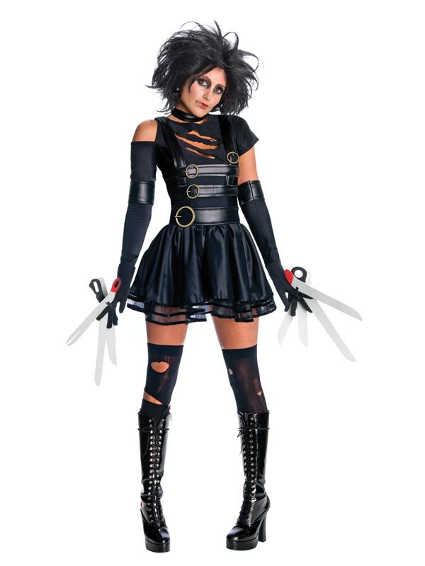 Ladies Adult Miss Edward Scissorhands Halloween Fancy Dress ...