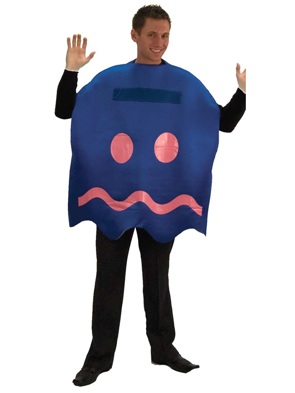 Adult Pacman 'Turn Blue' Ghost Video Game Fancy Dress Costume (STD)