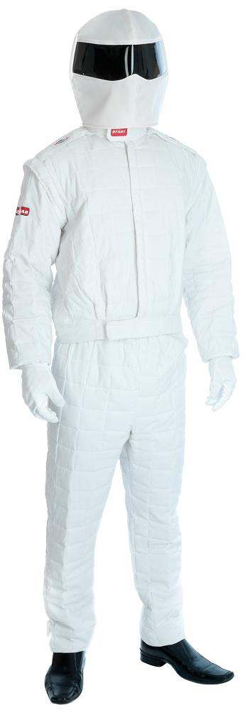 Adult Grand Prix Racing Driver Costume Sports Fancy Dress Stig Suit (Large)