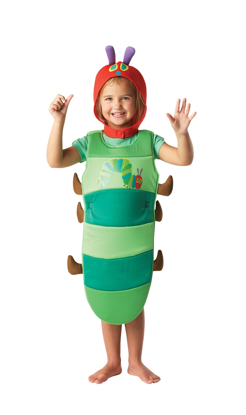 Kids Small Hungry Caterpillar Fancy Dress Insect Animal Costume (Age 2-3)