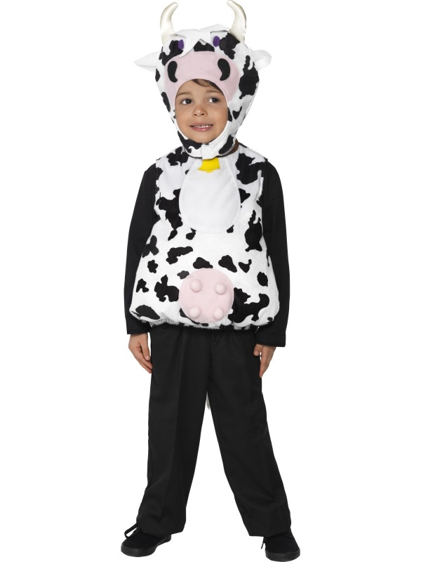 Child Moo Cow Fancy Dress Farmyard Party Animal Costume (Ages 1-9 ...