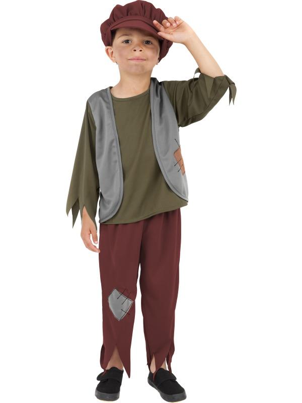 Child-Victorian-Poor-Boy-Fancy-Dress-Costume-Book-Week-Pauper-Urchin-Kids-Boys