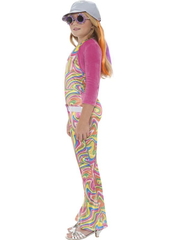 Disco groovy glam girl fancy dress costume hippie funky kids bn ebay