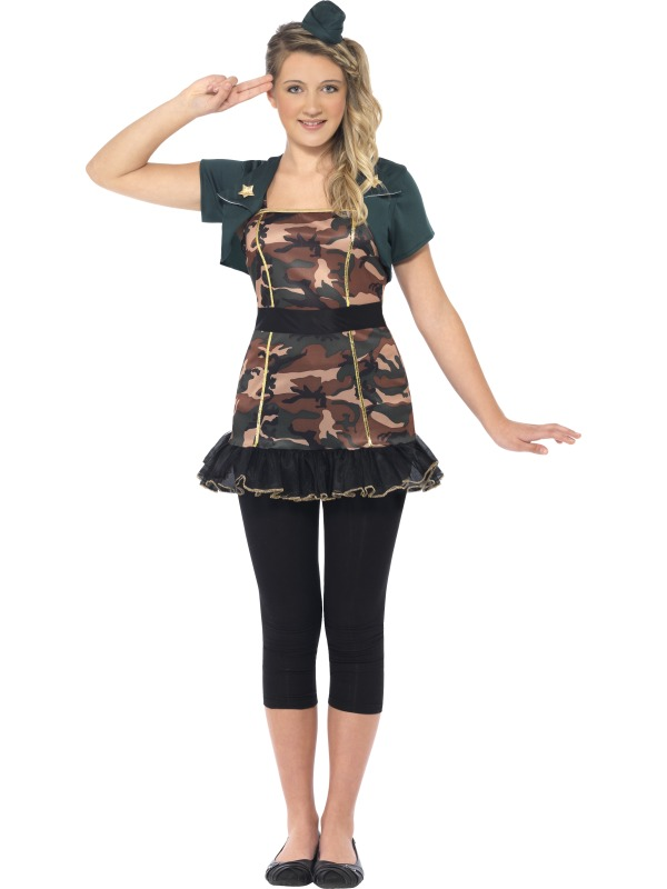 teen miss army girl costume extra small emergency services fancy dress fast costumes and. Black Bedroom Furniture Sets. Home Design Ideas