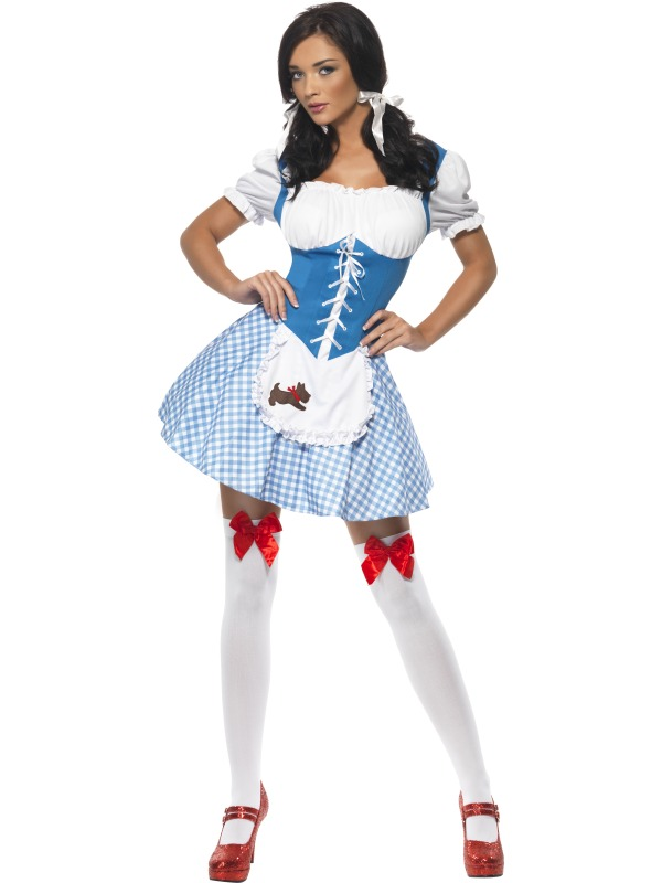 Adult Fever Kansas Cutie Fancy Dress Costume Ladies Womens Female ...