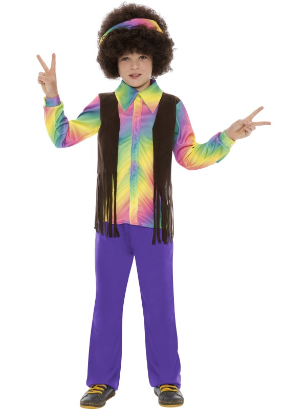 child hippie aroma fancy dress party costume 60s70s book