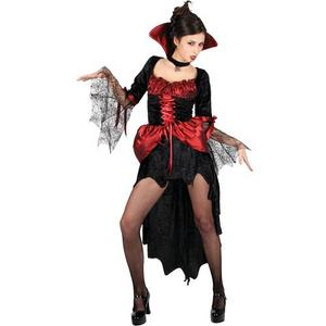 Adult UK Size 14-16 Burlesque Vamp Fancy Dress Halloween Costume (Medium)