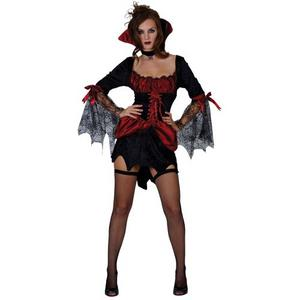 Adult UK Size 18-20 Burlesque Vampiress Fancy Dress Halloween Costume (Large)