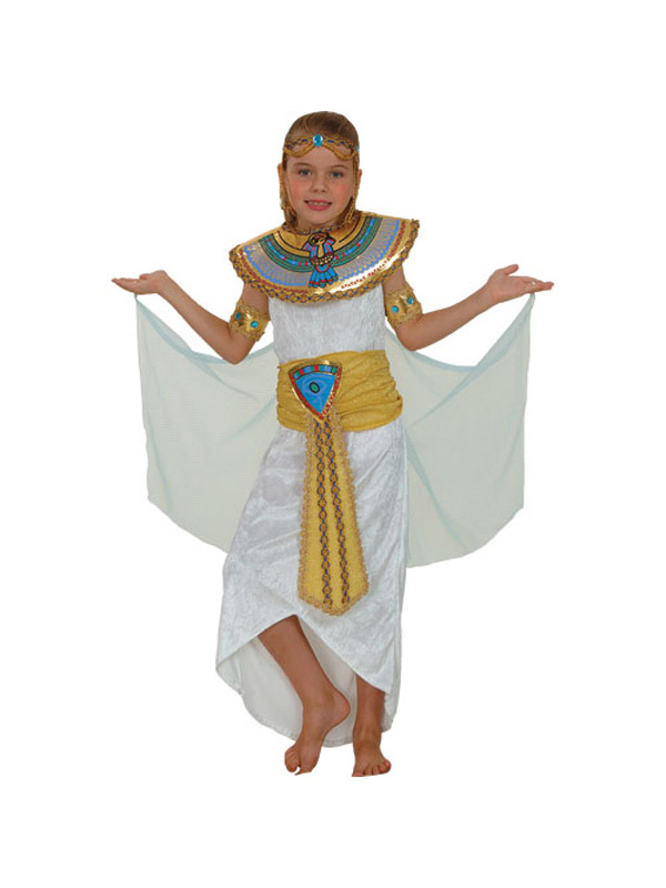 Kids Queen Nile Cleopatra Ancient Egyptian Princess Fancy Dress Girls Costume