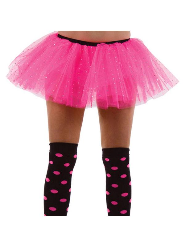 Children's Black And Pink 3 Layer Tutu