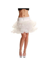 Adult White 3 Layer Ruffled Petticoat