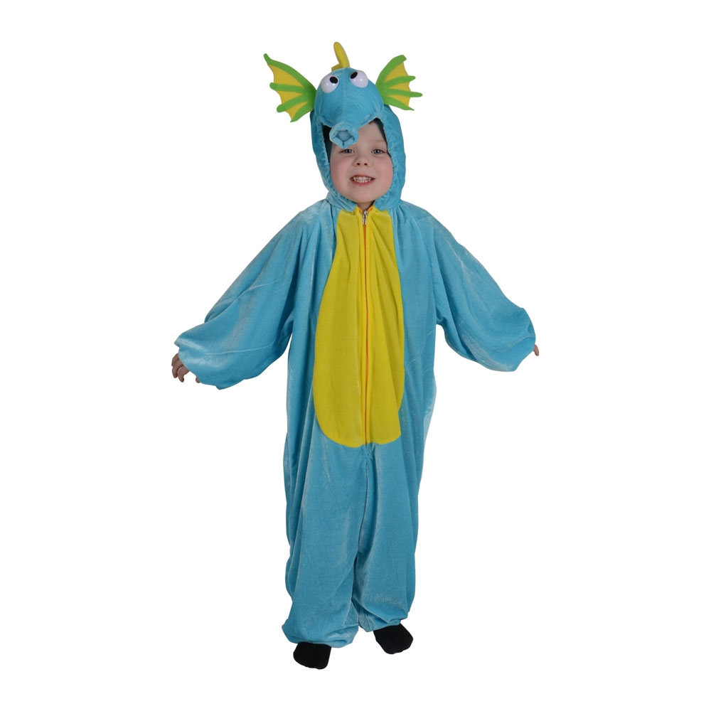 Child sea horse fancy dress costume book week sea dragon for Kids fish costume