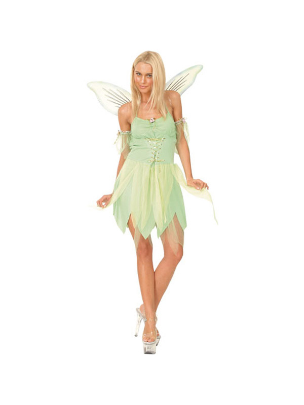 Adult-Ladies-Neverland-Fairy-Fancy-Dress-Tinkerbell-Costume-UK-Sizes-6-24-BN
