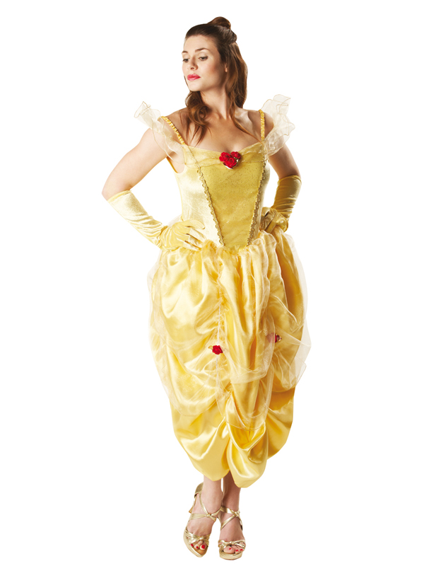 Adult-Licensed-Disney-Beauty-Beast-Belle-Fancy-Dress-Costume-Ladies-Women-BN
