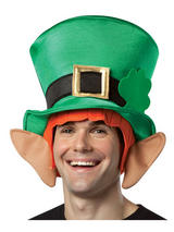 Adult's Leprechaun Hat With Hair And Ears