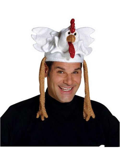 Adult chicken hat fancy dress farm animal bird headwear one size buy