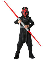 View Item Child Licensed Star Wars Darth Maul Fancy Dress Costume Kids Ages 3-8 Years