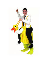 Men's Ride On Emu Jumpsuit Costume