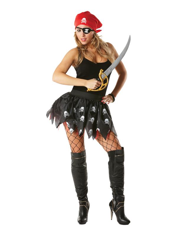 Pirate Tutu Set Ladies Costume