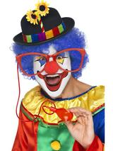 View Item Squirating Clown Glasses Fancy Dress Accessory