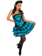 Adult Ladies Can Can Girl Showgirl Burlesque Dancer Western Fancy Dress Costume