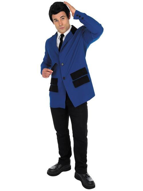 Mens 1950s Fancy Dress Teddy Boy Suit Rock n Roll Mod Costume Adults 50u0026#39;s Blue Buy Online
