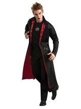 View Item Adult Vampire Coat Fancy Dress Halloween Costume (Standard)