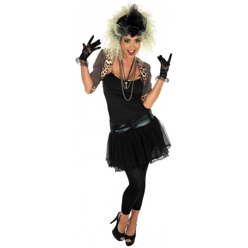 80s Female Rock Singers: Adult 80s Pop Star Fancy Dress Rock Singer Costume