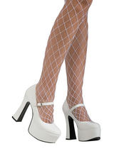 White Mary Janes Heels