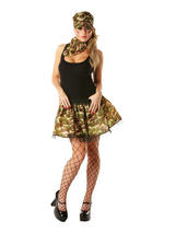 Military Tutu Set Ladies Costume